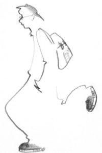 Н.Совца. Набросок. Учебная работа. Карандаш, 2002.
