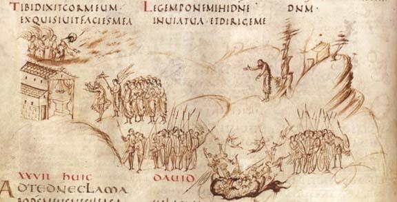 Утрехтская псалтырь, лист 15 v