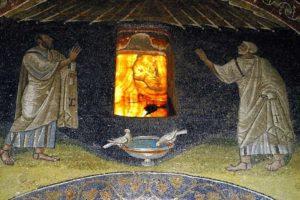 Галла Плацидия Апостолы Пётр и Павел Голуби пьющие из чаши