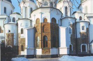 Собор Святой Софии в Киеве 1037-1040-е г. Вид с востока