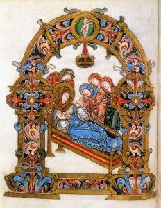 Бенедикционал Архиепископа Роберта. 980 г. Смерть Богородицы.