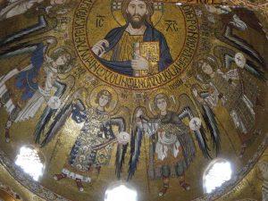 Палатинская капелла - Христос Пантократор в кругу архангелов и ангелов
