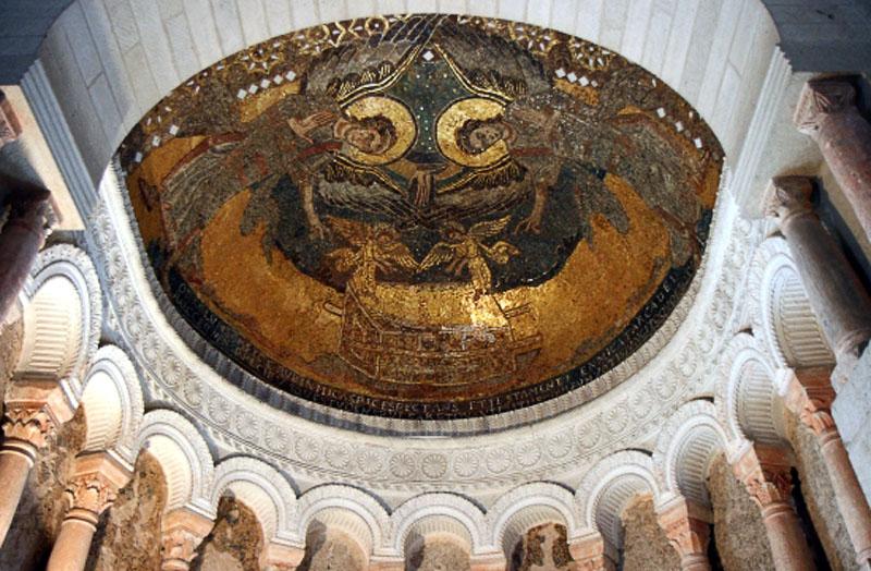 Мозаика в оратории Теодульфа Орлеанского в Жерминьи-де-Пре