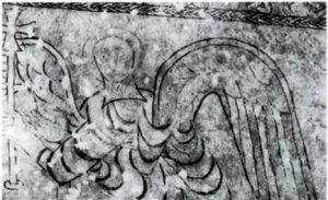 Натурно, церковь Санкт Прокулус. Ангел, несущий крест. Ок. 800 г.