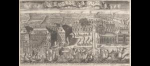 А. Ф. Зубов. Вид Васильевского острова и триумфальный ввод кораблей, взятых в плен при Гангуте. 1714
