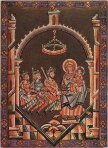 Вышеградский кодекс. Поклонение волхвов. 1085