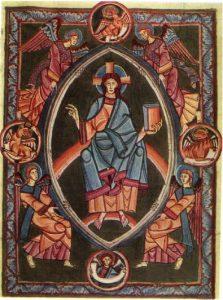 Вышеградский кодекс. Христос во славе. 1085