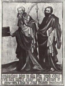 Эпитафий Яна из Ержене. Правая часть. 1395
