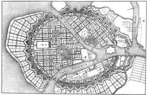 Генеральный план 1717 года, предложенный Жаном Леблоном