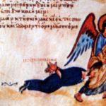 Ангел тащит иконоборца за волосы
