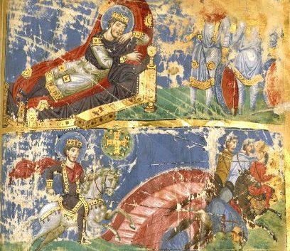 Dream of Constantine I and battle of the Milvian bridge
