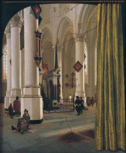 Hendrick Cornelisz. van Vliet. Nieuwe Kerk, Delft, c.1650 with tomb of William the Silent