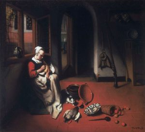Женщина, ощипывающая утку, Музей искусств (Филадельфия)