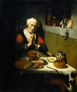 Молящаяся старая женщина, Рейксмюзеум, Амстердам