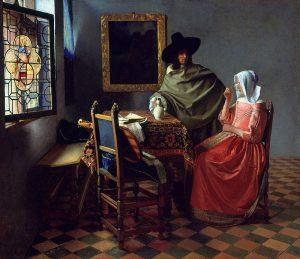 Бокал вина. 1660 нидерл. Het glas wijn Холст, масло. 66.3 × 76.5 см Берлинская картинная галерея, Берлин, Германия