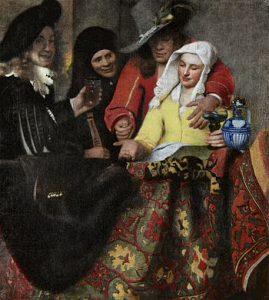 Сводница. 1656 год нидерл. De koppelaarster Холст, масло. 143 × 130 см Дрезденская галерея, Дрезден, Германия