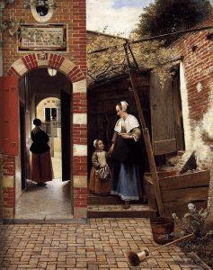 Дворик в Делфте (1658)