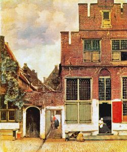 Улочка. Около 1658. Холст, масло. 54х44 см. Амстердам. Рейксмузеум
