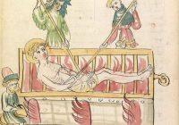Эльзасская Золотая легенда (Elsässische Legenda Aurea). До 1350, Страсбург / Библиотека Гейдельбергского университета. Cod. Pal. germ. 144