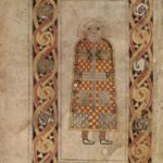 11. Св. Матфей. Евангелие из Дарроу. Лист 21v. Ок. 675 г. Дублин, Библиотека Тринити-Колледжа, MS A. 4. 15. (57)