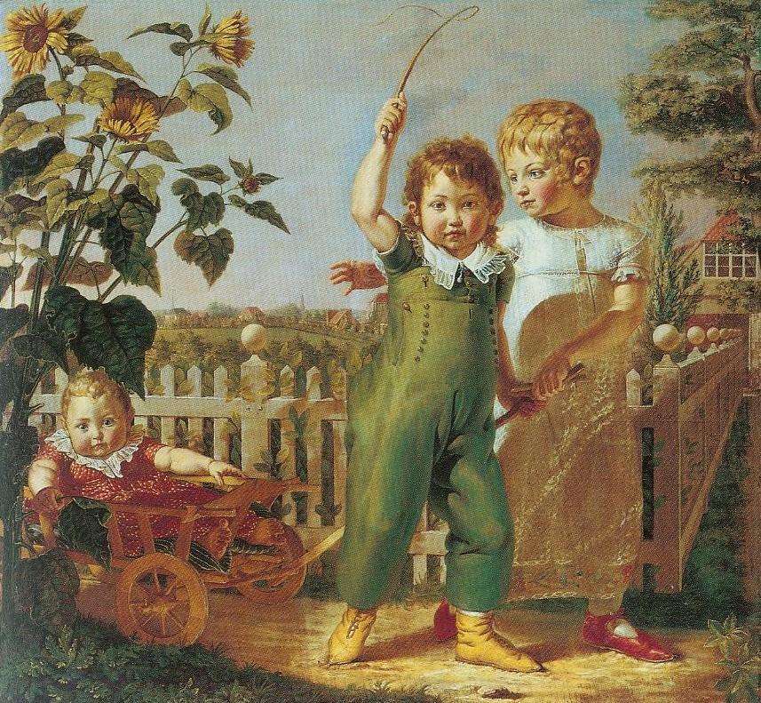 Портрет детей Хюльзенбек. 1805