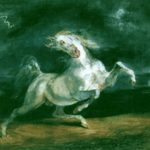 лошадь испугавшаяся грозы
