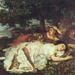 девушки на берегу сены 1857