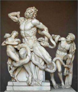 Агесандр. Афинодор. Полидор. Лаокоон. Ок. 40 г. до н. э. Рим, Ватиканские музеи