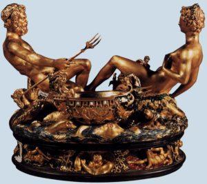 Б. Челлини. Солонка. 1540-1543 г. Вена, Художественно-исторический музей