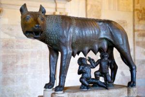 Волчица. Бронза. Конец VI — начало Vв. до н. э. Рим, Капитолийский музей