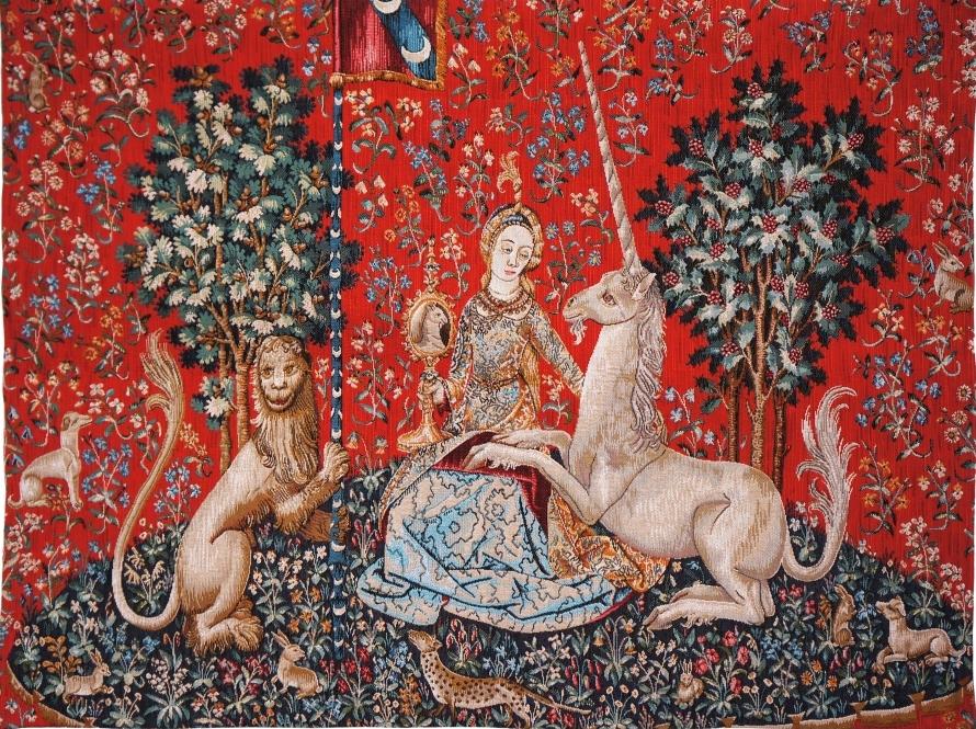 Дама с единорогом. Гобелен. XVI в. Париж, Музей Клюни