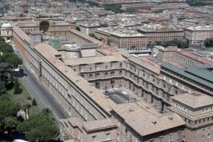 Двор Бельведер в Ватикане. Архитектор Д. Браманте. Начат в 1505 г