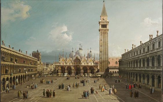 Площадь святого Марка, Каналетто, 1730