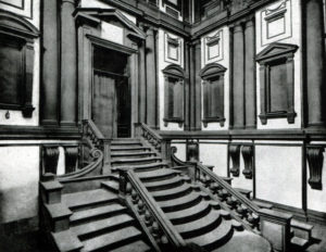 Микеланджело. Лестница библиотеки Лауренциана во Флоренции. После 1559 г.