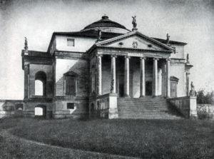 Палладио. Вилла Ротонда близ Виченцы. Начата в 1550-х гг. Общий вид.