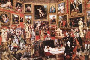 Зоффани. Трибуна Уффици. 1772—1778 гг. Виндзорская королевская коллекция