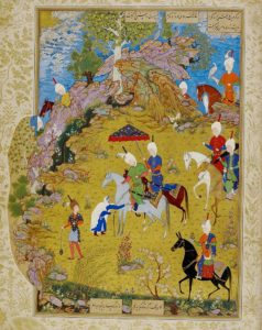 Султан Мухаммед. Султан Санджар и старуха. Миниатюра тебризской школы XVI века ю «Хамсе» Низами. 1539-43гг. Британская библиотека, Лондон