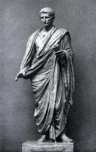Статуя Августа в тоге. Мрамор