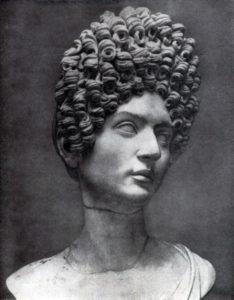 Женский портрет времени Флавиев. Мрамор. Конец 1 в. н. э. Рим. Капитолийский музей.