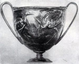 Серебряный сосуд из Боскореале. 1. в. н. э. Париж. Лувр.