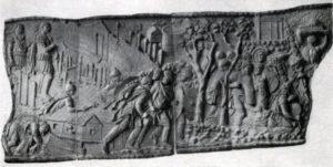 Колонна Траяна в Риме. Фрагмент рельефа. Мрамор. Начало 2 в