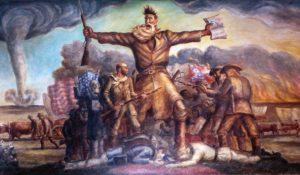 «Трагическая прелюдия», изображающая аболициониста Джона Брауна в здании Капитолия штата Канзас, Джона Стюарта Карри (1930)