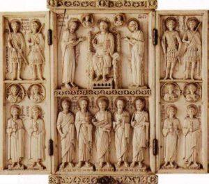 Арбавильский триптих. Лицевая сторона