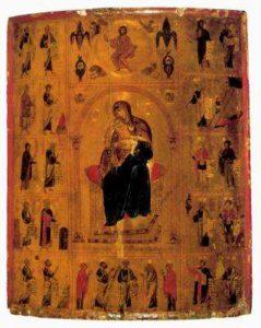 Богоматрь Киккотисса с пророками. Монастырь св. Екатерины на Синае