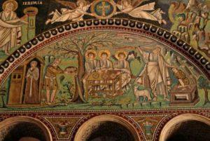 Гостеприимство Авраама и Жертвоприношение Авраама. Мозаики Сан Витале