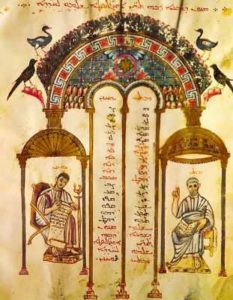 Евангелисты Матфей и Иоанн. Евангелие Рабулы