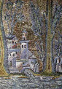 Мозаика в портике. Мечеть Омейядов