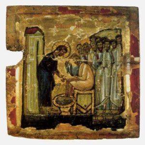 Омовение ног. Монастырь св. Екатерины на Синае