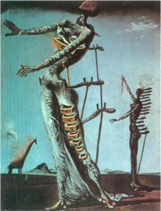 Пылающая жирафа. 1936-37