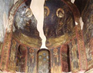 Росписи алтаря. Панагия Халкеон